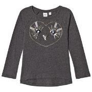 GAP Sequin Sweater Heather Grey XXL (14 år)