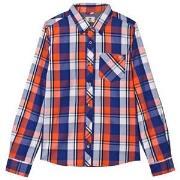 Timberland Blue and Orange Check Shirt 16 years