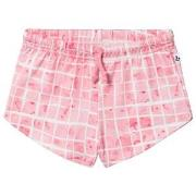 Noe & Zoe Berlin Pink Grid Print Sweat Shorts 8 years