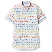 Paul Smith Junior White Multi Bike Print Short Sleeve Shirt 2 years