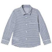 Il Gufo Navy Stripe Long Sleeve Shirt 4 years