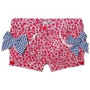 Dr Kid Floral Shorts with Gingham Bow Detail Red 6 months