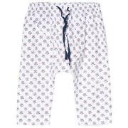Cyrillus White Floral Print Pull Up Pants 1 month