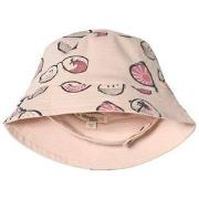 The Bonnie Mob Sunhat Pink Sunnies in Pink Scribble Waves Print 6-12 m...