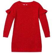 GAP Modern Red Ruffle Sleeve Lurex Jumper Dress L (9-10 år)