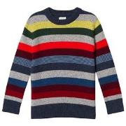 GAP Gray And Rainbow Stripe Crazy Sweater M (8 år)
