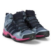 adidas Performance Purple and Pink Terrex Mid Hiking Boots 29 (UK 11)
