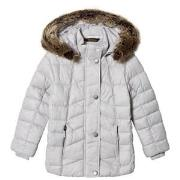 Barbour Ice White Bernera Padded Faux Fur Hooded Coat XS (4-5 years)