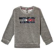 Tommy Hilfiger Grey Sequin Branded Sweatshirt 3 years