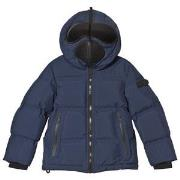 AI Riders on the Storm Navy Down Goggle Hooded Jacket 4 years
