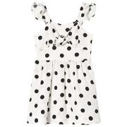 Bardot Junior White Dress with Black Spots and Knot 16 years