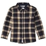 ebbe Kids Navy and Sand Check Victor Shirt 92 cm (1,5-2 år)
