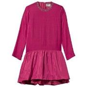 Il Gufo Velvet Ceremony Dress with Jewelled Neckline in Pink 2 years