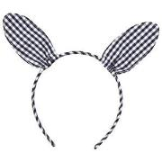 GAP Green Gingham Bunny Ear Hairband One Size
