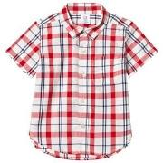 GAP Print Short Sleeve Button-Down Shirt Modern Red 2 år