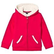 Lands' End Red Berry Solid Sherpa Hoodie L (11-12 years)