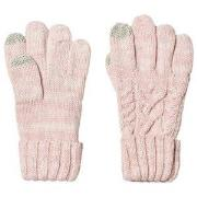 GAP Pink Dust Cable Knit Gloves S (6-7 år)