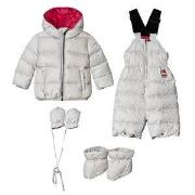 Colmar Silver with Pink Lining Padded Down Set 9 months