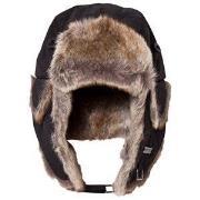 Barts Black Faux Fur Kamikaze Trapper Hat 53 (4-8 years)