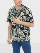 Jack & Jones Jortropical Shirt Ss Skjorter Navy Blazer