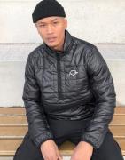 Nike half-zip overhead synthetic fill puffer jacket in black