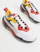 Puma Thunder trainers in white and red