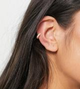 ASOS DESIGN sterling silver gold plate ear cuff with crystals