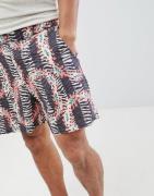 ASOS DESIGN slim shorter shorts with elasticated waistband in animal p...